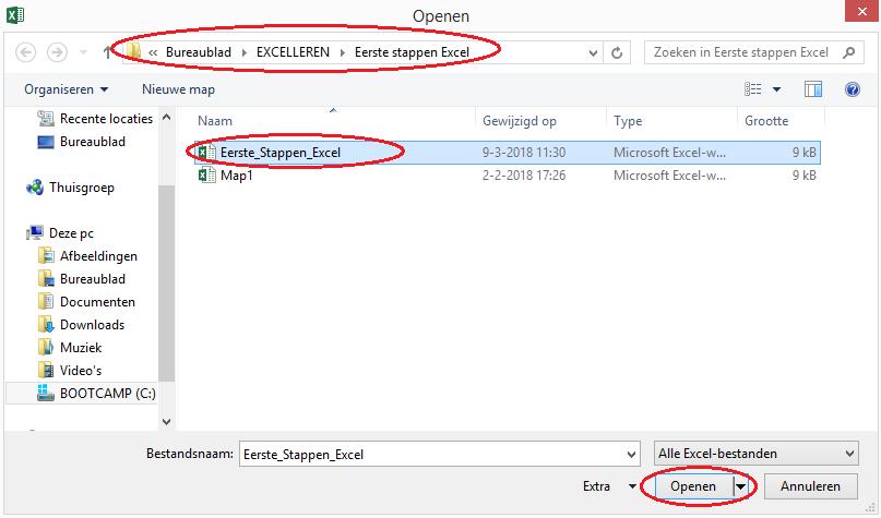 Openen Excel bestand